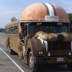 Cleveland Browns Helmet Bus