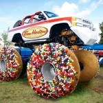The Tim Horton's Monster Truck Has Donut Wheels