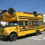upside down school bus